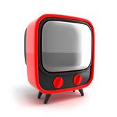 Retro TV, red — Stock Photo