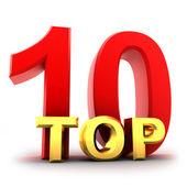 Ten top — Stock Photo