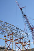 Construction frame and crane — Stock Photo