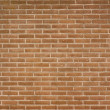 Brick wall with a crack at the left side — Stock Photo