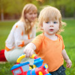 Child with mum on walk — Stock Photo #4066903