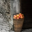 Stock Photo: Stone and apples