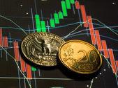 外国為替セント — ストック写真