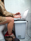 Internet addict — Stockfoto