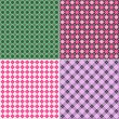Plaid pattern set — Stock Vector