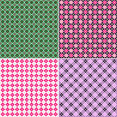 Plaid pattern set — Stock Vector