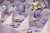 Violet wedding — Stock Photo