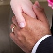Hands in marriage — Stock Photo