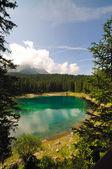 Lago di Carezza — Foto de Stock