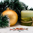Christmas candle — Stock Photo #4240435