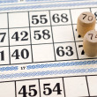 Lotto cards — Stock Photo