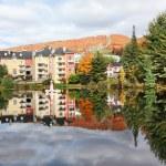 Осенний сезон в Мон Треблан, Квебек, Канада — Стоковое фото