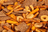 Salted Snack Mix Close up — Stock Photo