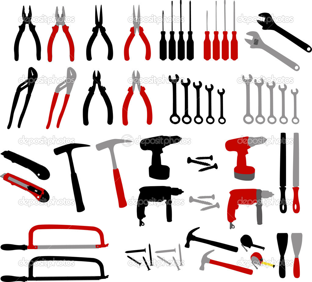 Tools collection - vector — Stock Vector #4817765