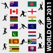 Stock Vector: Cricket world cup 2011