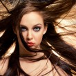 Hair in motion — Stockfoto