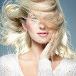 Blowing hair — Stock Photo