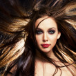 Hair in motion — Foto de Stock