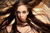 Hair in motion — Stock Photo