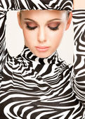 Zebra fashion — Stock fotografie