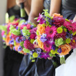 Foto Stock: Bridal Party Flowers