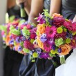 Foto de Stock  : Bridal Party Flowers