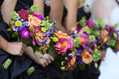 Bridal Party Flowers — Stock Photo