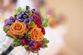 Wedding Boquet on Table — Stock Photo