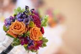 Wedding Boquet on Table — Stock Photo