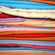 Royalty-Free Stock Photo: Colorful Fabrics Background