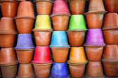 Colored Pots Background — Stock Photo