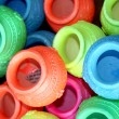 Colorful Pots Background - Stock Photo