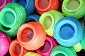 Colorful Pots Background — Stock Photo