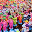 Colorful Clay Idols — Stock Photo