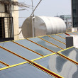 Stock Photo: Solar Heater Panels