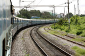 Turning Train — Stock Photo