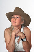 Cowgirl bonita de wyoming — Foto Stock