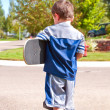 Little boy ready to skateboard - Foto de Stock  