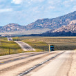 Stock Photo: US Highway 287 in Wyoming USA