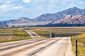 US Highway 287 in Wyoming USA — Stock Photo