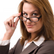 Business woman looking at you — Stock Photo