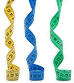 Tre färg mesuring band — Stockfoto