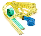 Three measuring tapes — Stock Photo