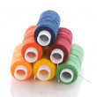 Foto Stock: Pyramid made of thread