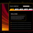 Website Layout Template in Red and Yellow Colors — Stock Vector