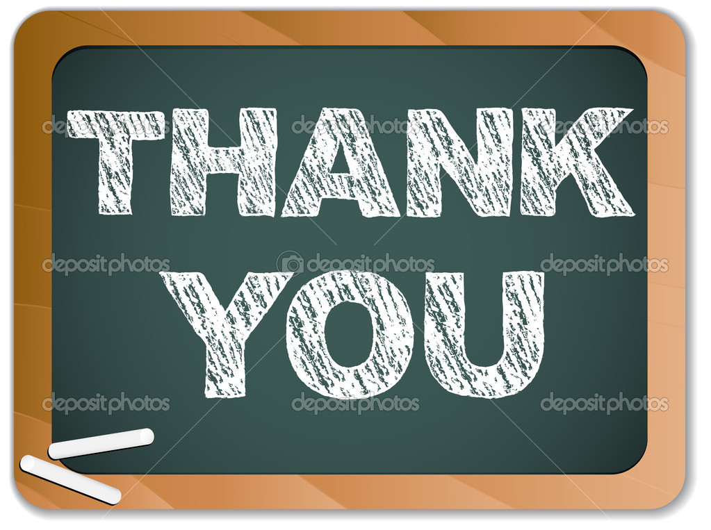 Vector - Blackboard with Thank You Message written with Chalk  Stock Vector #4001813