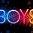 Boys Gay Pride Abstract Colorful Waves on Black Background — ストックベクタ