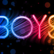 Boys Gay Pride Abstract Colorful Waves on Black Background — Vector de stock