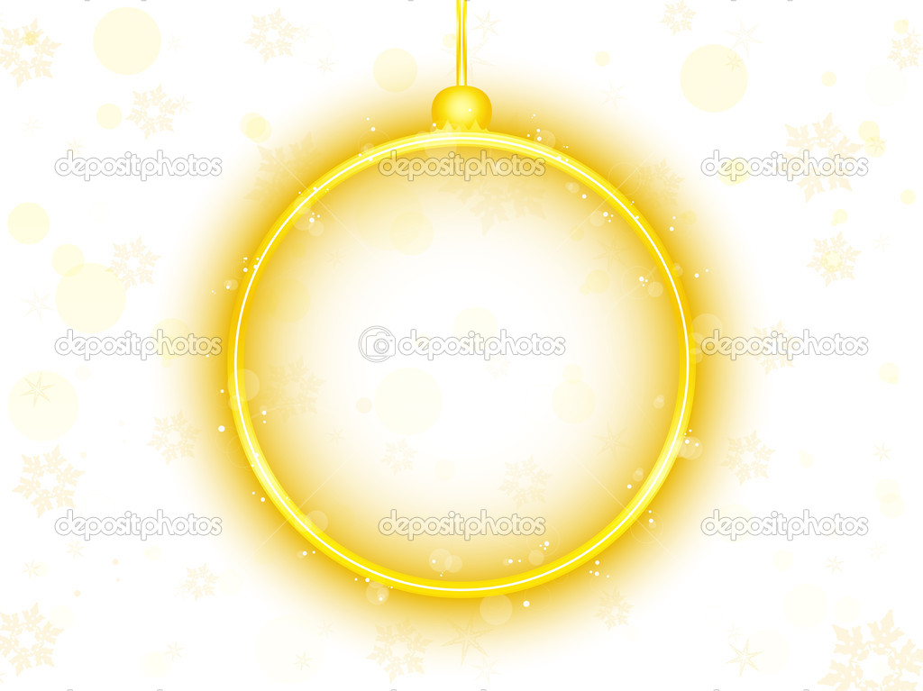 Vector - Golden Neon Christmas Ball on White Background — Stock Vector #4357480