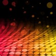 Disco Abstract Colorful Waves on Black Background — Imagen vectorial